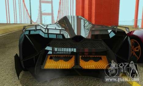 Lamborghini Egoista for GTA San Andreas interior