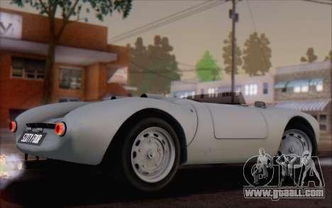 Porsche 550 Spyder 1955 for GTA San Andreas left view