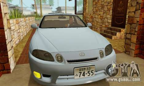 Lexus SC300 v1.01 [ImVehFT] for GTA San Andreas inner view