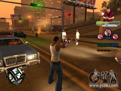 C-HUD Michael (GTA V) for GTA San Andreas sixth screenshot