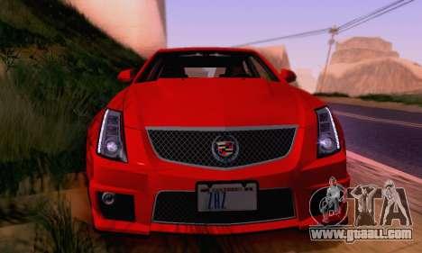 Cadillac CTS-V Sedan 2009-2014 for GTA San Andreas engine