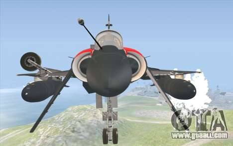 Dassault Mirage 2000-C for GTA San Andreas right view