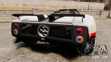 Pagani Zonda C12 S Roadster 2001 PJ4 for GTA 4 back left view