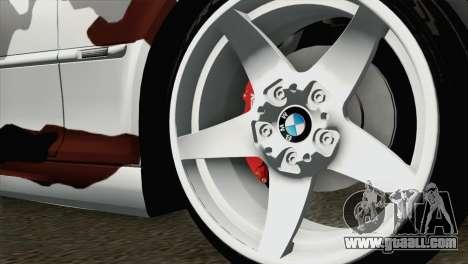 BMW M3 E46 Camo for GTA San Andreas back left view