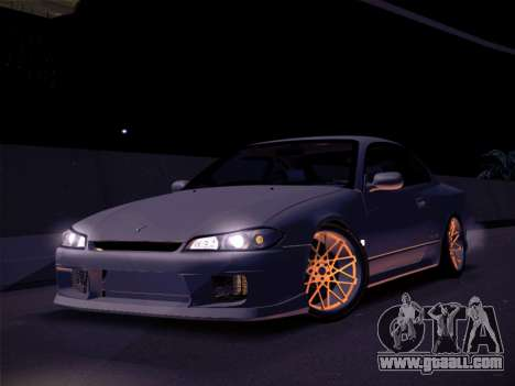 Nissan Silvia S15 Stanced for GTA San Andreas back left view