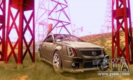 Cadillac CTS-V Sedan 2009-2014 for GTA San Andreas inner view