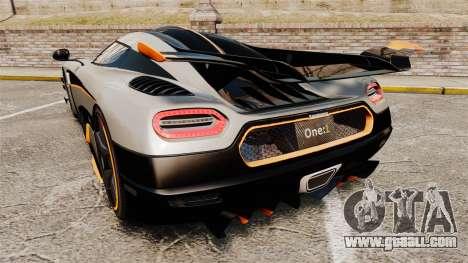Koenigsegg One:1 [EPM] for GTA 4 back left view