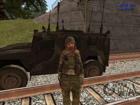 Military in camouflage for GTA San Andreas forth screenshot