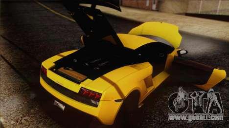 Lamborghini Gallardo LP570-4 Edizione Tecnica for GTA San Andreas engine