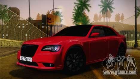Chrysler 300 SRT8 Black Vapor Edition for GTA San Andreas inner view
