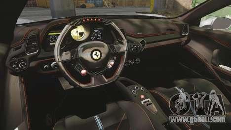 Ferrari 458 Italia for GTA 4 side view