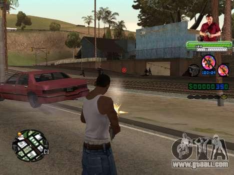 C-HUD Michael (GTA V) for GTA San Andreas second screenshot