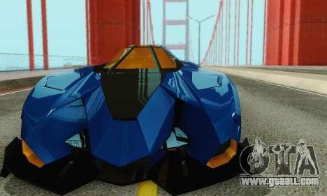 Lamborghini Egoista for GTA San Andreas side view