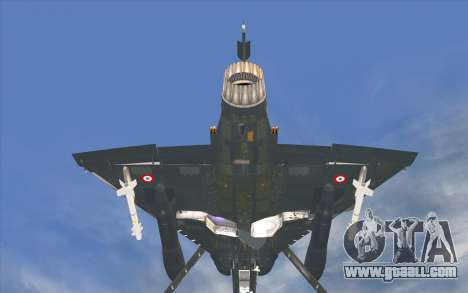 Dassault Mirage 2000-C for GTA San Andreas back left view