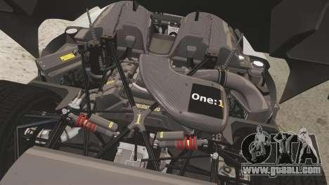 Koenigsegg One:1 [EPM] for GTA 4 inner view
