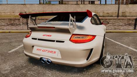 Porsche 997 Carrera GT3 RS for GTA 4 back left view