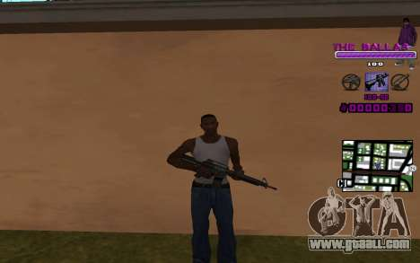 C-HUD The Ballas Gang for GTA San Andreas