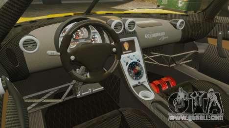 Koenigsegg Agera TE [EPM] for GTA 4 inner view