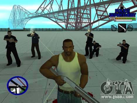 С-Hud Police Department for GTA San Andreas sixth screenshot