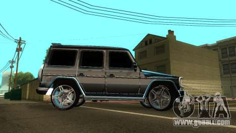 Mercedes-Benz G500 AMG V.2 for GTA San Andreas inner view