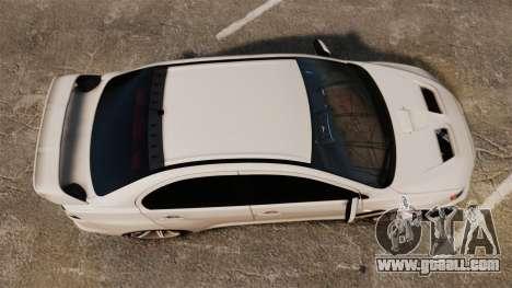 Mitsubishi Lancer Evolution X FQ400 (Cor Rims) for GTA 4 right view