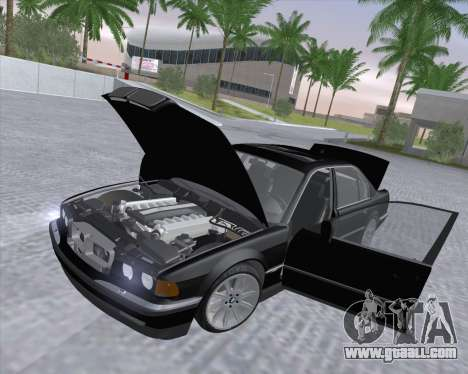 BMW 7-series E38 for GTA San Andreas inner view