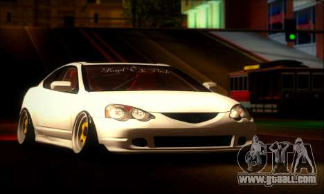 Acura RSX Stance for GTA San Andreas back left view