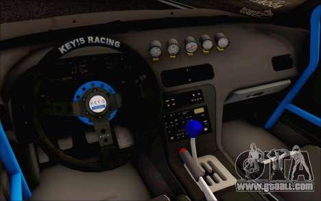 Nissan Silvia S13 Vertex for GTA San Andreas back view