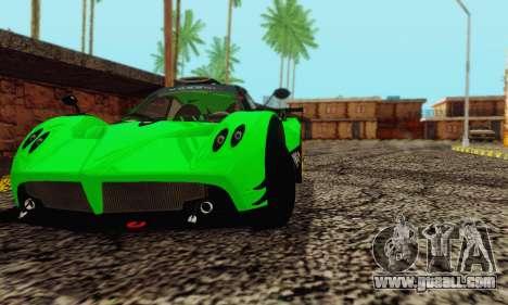 Pagani Zonda Type R Green for GTA San Andreas right view