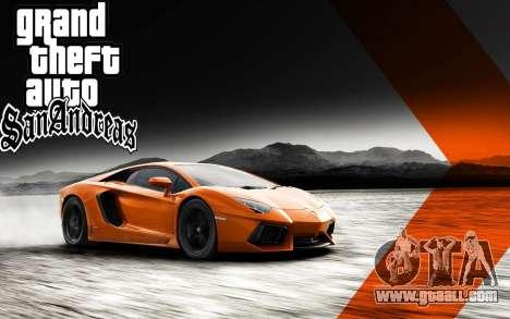 New boot screens Ultra HD (3840x2160) for GTA San Andreas