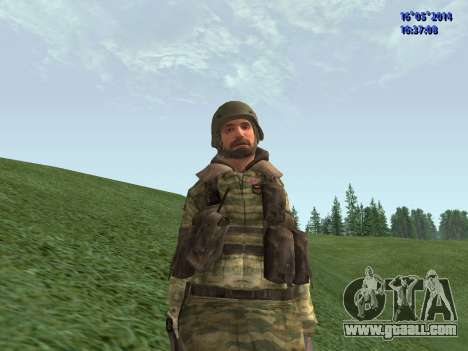 Military in camouflage for GTA San Andreas
