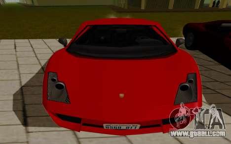 GTA 5 Pegassi Vacca for GTA San Andreas back left view