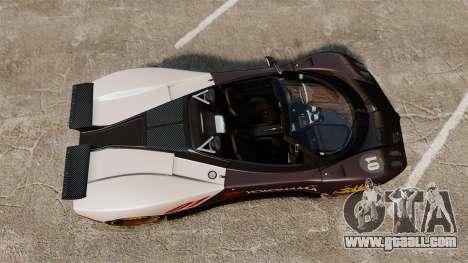 Pagani Zonda C12 S Roadster 2001 PJ4 for GTA 4 right view