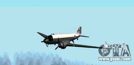 C-47 Dakota USAF for GTA San Andreas