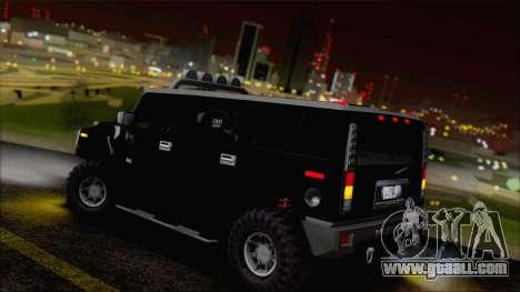 Hummer H2 Tunable for GTA San Andreas bottom view