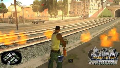 C-HUD Kings of Rap for GTA San Andreas forth screenshot