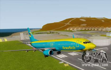 Boeing 737-800 AeroSvit Ukrainian Airlines for GTA San Andreas