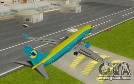 Boeing 737-800 AeroSvit Ukrainian Airlines for GTA San Andreas back left view