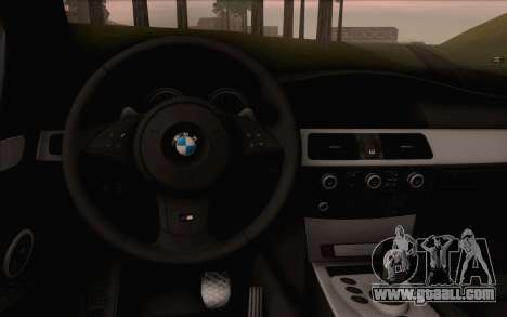BMW M5 E60 2009 for GTA San Andreas right view