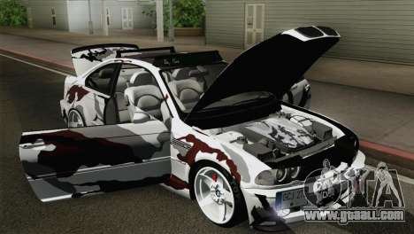 BMW M3 E46 Camo for GTA San Andreas back view