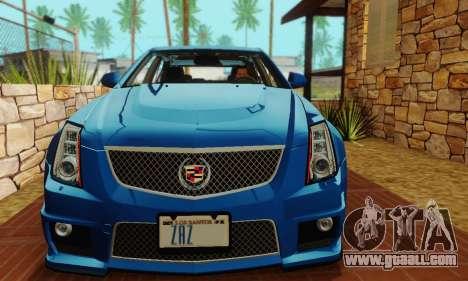 Cadillac CTS-V Sedan 2009-2014 for GTA San Andreas upper view