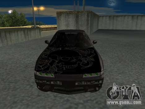 Nissan s13 stock fusion for GTA San Andreas back left view