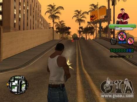 C-HUD Michael (GTA V) for GTA San Andreas third screenshot
