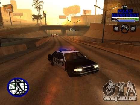 С-Hud Police Department for GTA San Andreas second screenshot