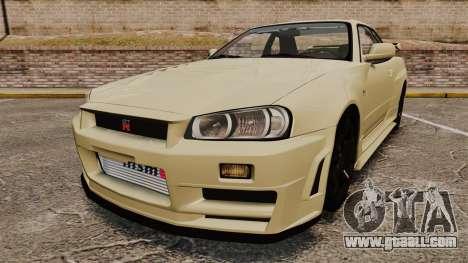 Nissan Skyline R34 Nismo Z-Tune for GTA 4