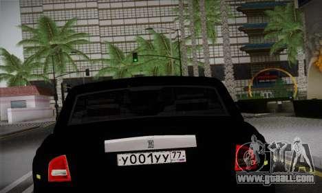 Rolls-Royce Phantom for GTA San Andreas back view