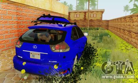 Lexus RX400h 2010 for GTA San Andreas back view
