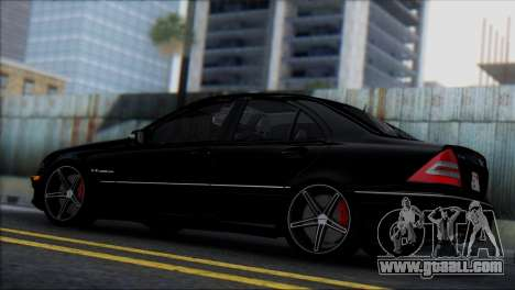 Mercedes-Benz C32 Vossen for GTA San Andreas right view