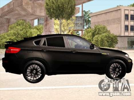 BMW X6 Hamann for GTA San Andreas interior