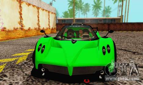 Pagani Zonda Type R Green for GTA San Andreas left view